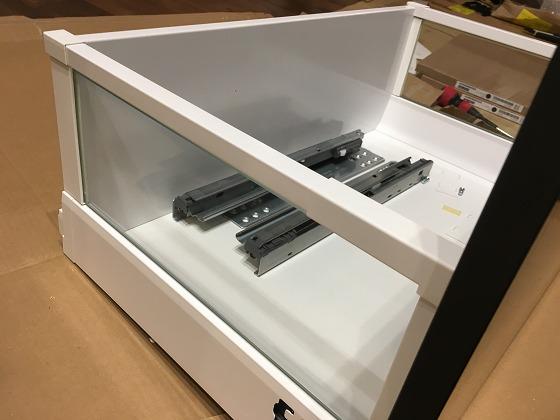 IKEA 食器棚 引き出し ガラス オプション あり