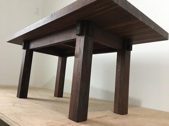 ウォールナット リビングテーブル 自作 木工