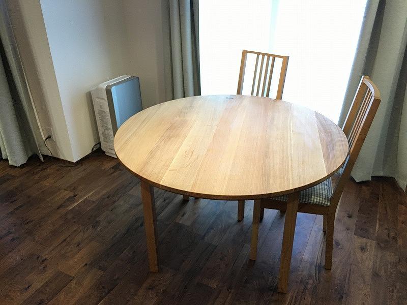ナラ オーク ダイニングテーブル 円卓