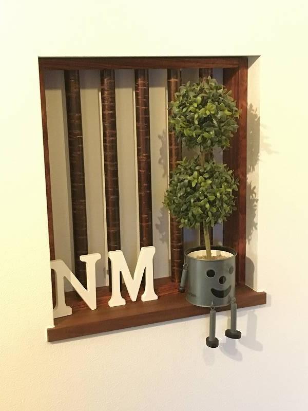 玄関 ニッチ 飾り格子 木工 作品