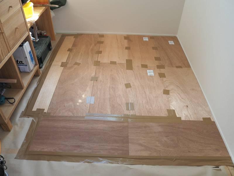 作業部屋 床 補教DIY