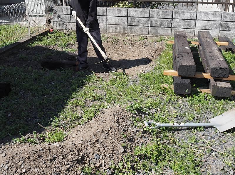家庭菜園 土 整地