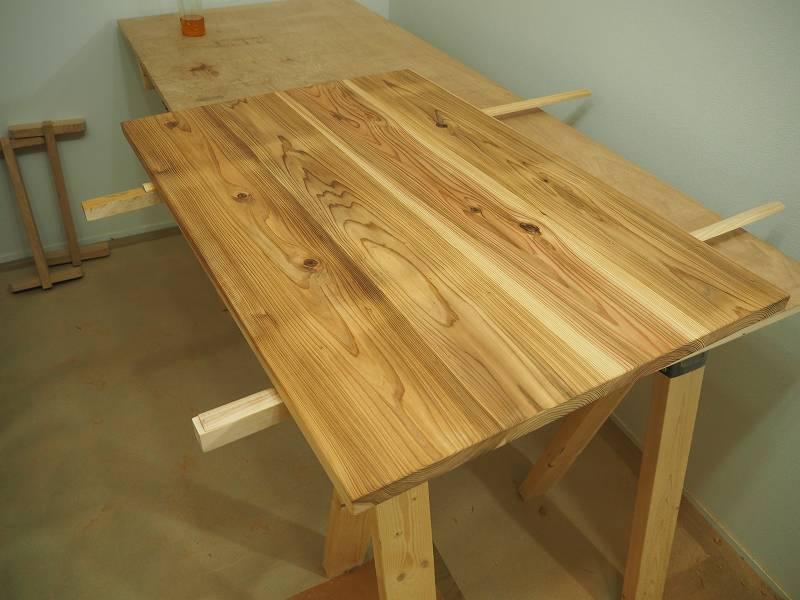杉板 天板 リビングテーブル 自然塗料 ワトコ ESHA
