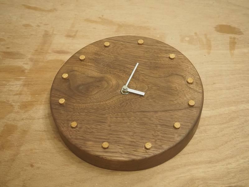 丸型 時計 作り方 DIY 木工 トリマー ウォールナット