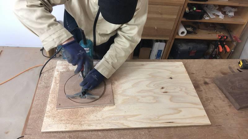 トリマー 円切り 方法 解説 DIY