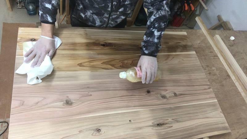 自然塗料 ESHA ワトコ 天板 杉板