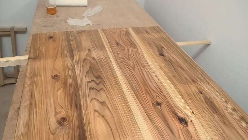 天板 杉板 自然塗料