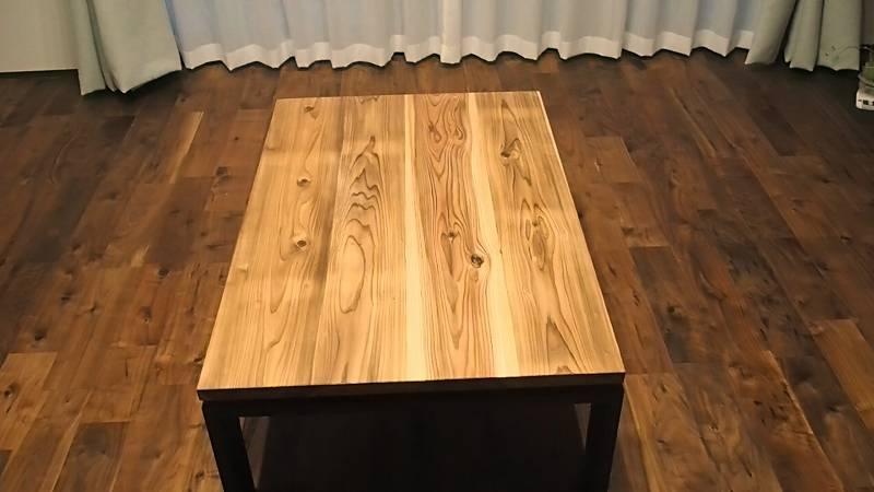 リビングテーブル DIY 木工 杉板