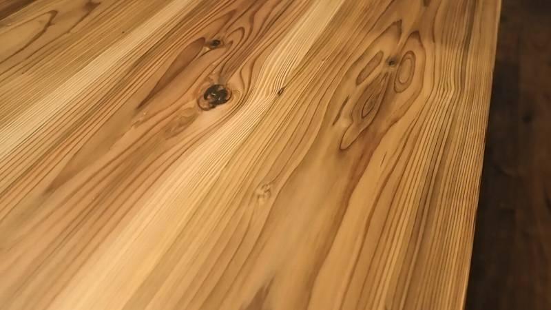 杉板 木目 テーブル