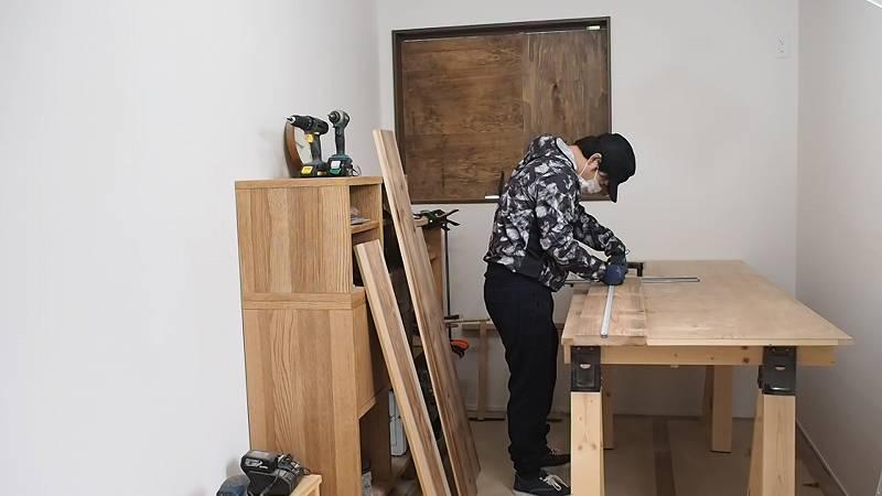カフェ板 リビングテーブル DIY