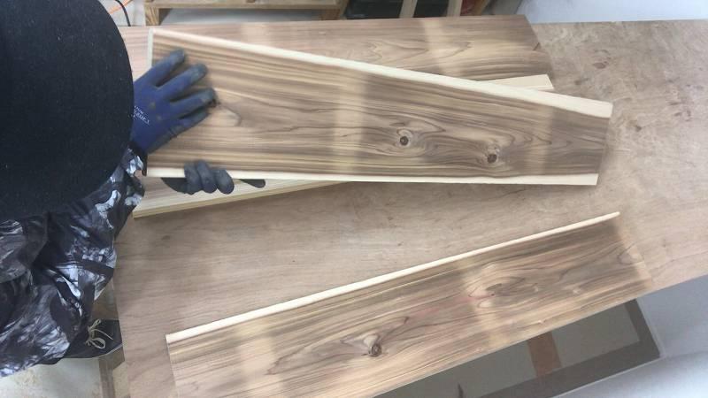 木目 選び カフェ板 リビングテーブル DIY