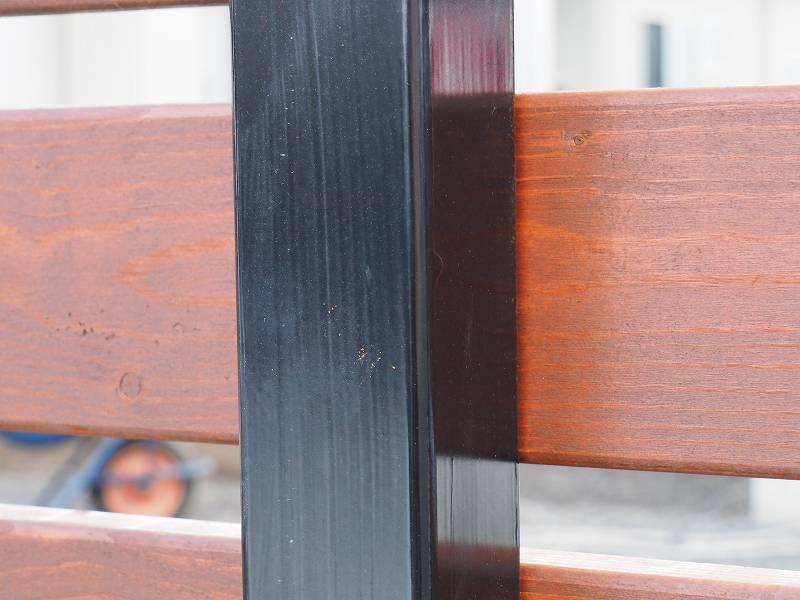 角パイプとSPF材でウッドフェンスを作る 作り方