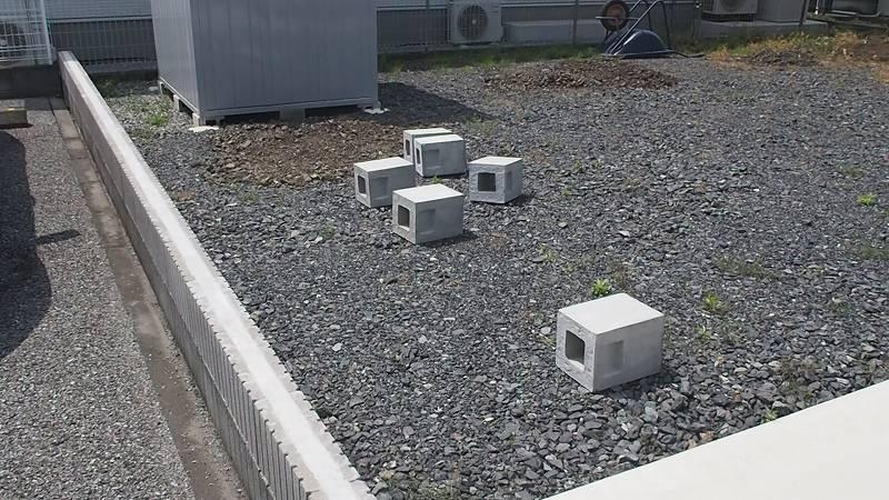 角パイプとSPF材でウッドフェンスを作る 施工範囲