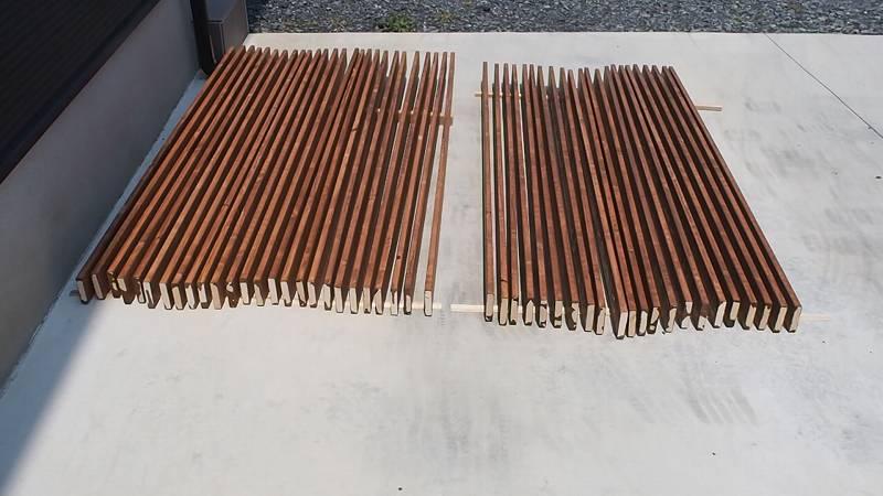 角パイプとSPF材でウッドフェンスを作る キシラデコール チーク