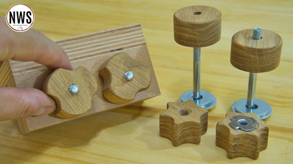 木製ノブナットの作り方