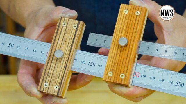 3種の銘木でマーキングゲージを作る