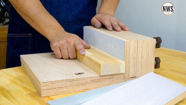 【角度の微調整ができる】直角にサンディングをすることができる治具を作ったので紹介します。【木工DIY】