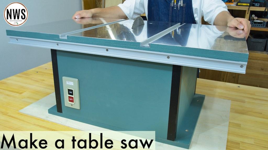 マキタの丸ノコを使用して自作のテーブルソーを作る/本体制作編